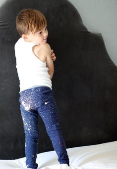 Celebrate the night sky with these DIY galaxy print pajamas