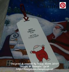 Fun bookmark created using the Santa's Suit Stamp Set from Stampin' Up! http://tracyelsom.stampinup.net