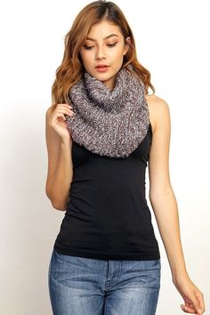 Fuzzy two toned scarf : Grey/Brown <3 Get yours here ---> http://www.shopabbyanna.com?afmc=w3