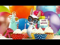 Zoobe Зайка С днём рождения, подруга!!! Зажигательное поздравление - YouTube