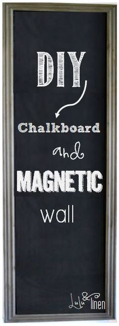 I smile. Each time I walk by it, I smile. Yes, another little treasure I have become smitten with is our chalkboard and magnetic wall. I can't say it enough. I HEART IT! If you have been foll…