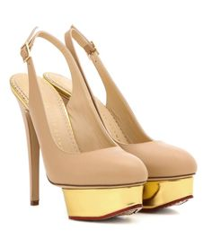 CHARLOTTE OLYMPIA Dolly Slingback platform pumps. #charlotteolympia #shoes #pumps
