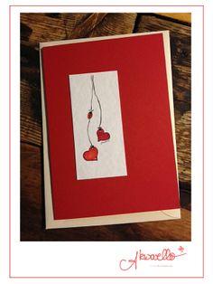 Glückwünsche zur Hochzeit by Akwarello #congratulation #wedding #love #heart #Herzen #Marienkäfer #Liebe #Rot