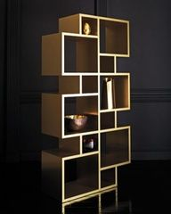Brass Bookshelf . #Design #Furniture