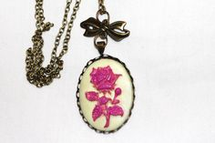 Rose Cameo Necklace by ExploreBelieveCreate on Etsy https://www.etsy.com/listing/230547243/rose-cameo-necklace
