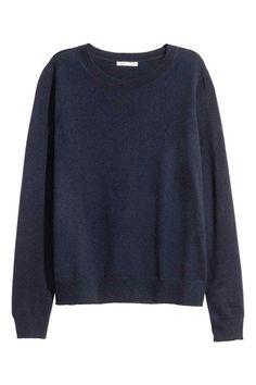 Kasjmier trui - Donkerblauw - DAMES | H&M NL