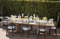 Stripes table setting