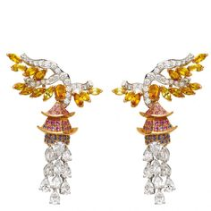 Pavillon d'Or sapphire and diamond earrings from the Orient series by Van Cleef & Arpels