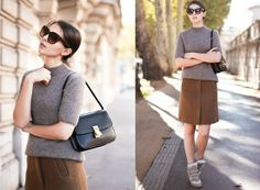 Sneakers Wedges and Skirts   ... Bag, Cos Camel Skirt, Isabel Marant Wedge Sneakers Golden Diamond blog