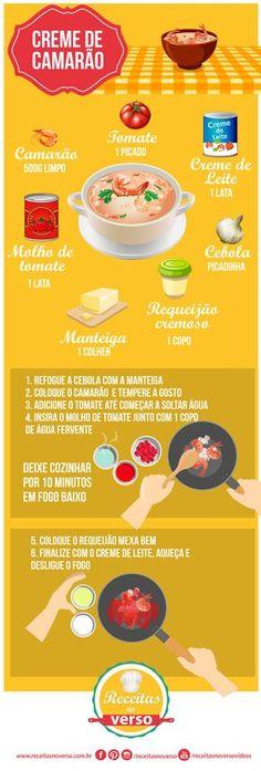 creme-de-camarão Seafood Recipes, Cooking Recipes, Portuguese Recipes, Happy Foods, Just Cooking, Food Illustrations, Other Recipes, Creative Food, No Cook Meals