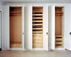 Bedroom Cupboard by Plain English Cupboard interiors in Cedar of Lebanon | www.plainenglishdesign.co.uk