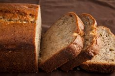 Moist, banana-packed bread with the tang of sour cream—it's great sliced and eaten on its own or toasted for a morning snack.