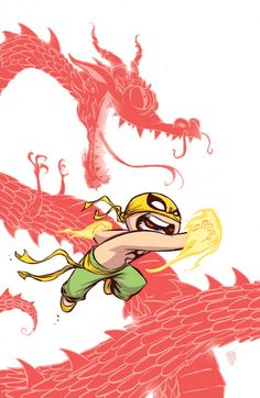 #Iron #Fist #Fan #Art. (Iron First The Living Weapon Vol.1 #1 Baby Variant Cover) By: Skottie Young. ÅWESOMENESS!!!™ ÅÅÅ+