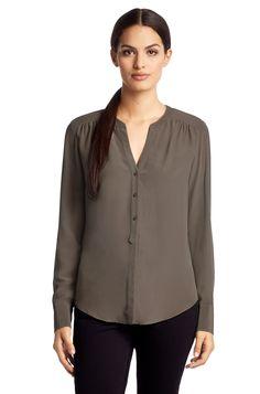 BOSS Zijden blouse 'Rosalia3' van crêpe de Chine - Beige