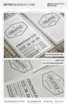 PSD Retro Vintage Business Card  Template • Only available here ➝ http://graphicriver.net/item/retro-vintage-business-card/5692223?ref=pxcr