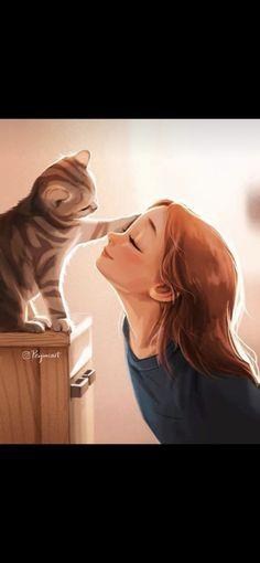 Cat Phone Wallpaper, Mona Lisa, Cartoon, Drawings, Artwork, Movie Posters, Movies, Illustrations, Dolls