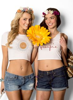 Custom festival t-shirts and tanks Festival T Shirts, Mix N Match, Crop Tank, Festival Fashion, Design Your Own, Daisy, Colors, Tees, How To Make