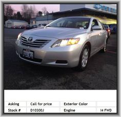 2007 Toyota Camry Hybrid Base Sedan  Thermometer, Adjustable Steering Wheel, Power Seat (Dual), Door Pockets, Overhead Console, Ventilated Seats, Illuminated Entry, Handsfree/Bluetooth Integration, Cd (Multi Disc), Side Impact Door Beam, Power Mirrors, Steering Wheel Controls, Emergency Trunk Release, All-Season Tires, Automatic Headlights, Front Knee Airbags (Driver)