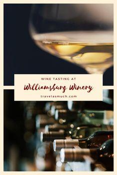 I have never liked wine. And I've attended no small amount of wine tastings in an effort to understand why it's so popular. But that all changed when I went to a reserve wine tasting at Williamsburg Winery in Williamsburg, Virginia.