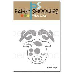 Paper Smooches REINDEER Wise Dies NOD354