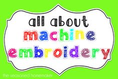 All About Machine Embroidery:: Day 2 - Machine Embroidery Formats - The Seasoned Homemaker