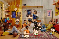 Exo Cartoon, Cartoon Jokes, Kyungsoo, Chanyeol, Kaisoo, Exo For Life, Cute Laptop Wallpaper, Exo Group, Exo Fan Art