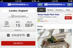Hostelworld - free application to help you find Hostel worldwide.