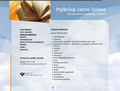 Website to Danish Psychologist Janne Dolma (screendump) Design by Lars Bregendahl Bro (CMS: WordPress) In danish: Hjemmeside til psykolog Janne Dolma. Design af Lars Bregendahl Bro (CMS: WordPress)
