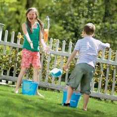Water games for kids is a good way to stay outside while still being able to cool off. Use the hose for a good game of limbo, or invite the neighbors over for a good old-fashioned water balloon fight.