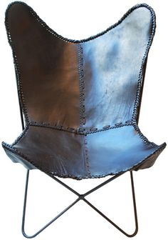 Interieurs leather butterfly chair