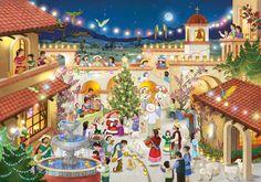 Calendario de Adviento. Feliz Navidad. En espanol.