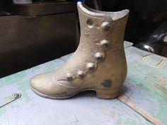 Vintage cast iron Victorian Edwardian mannequin shoe child sized