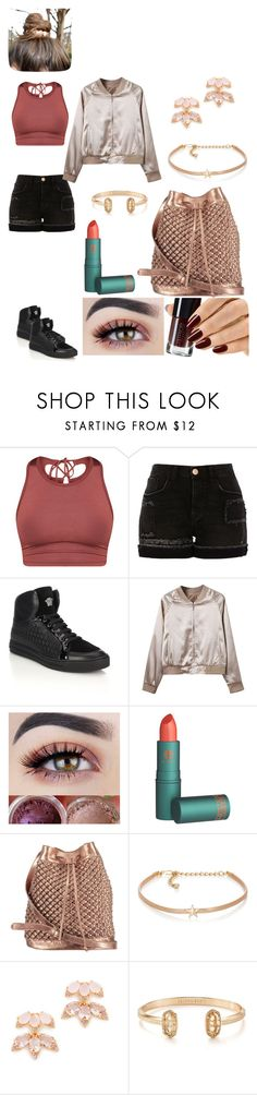 """""""Dance Practice #6"""" by joeannamarii on Polyvore featuring River Island, Versace, WithChic, nooki design, Kenneth Jay Lane, Kate Spade, Kendra Scott, Chloe + Isabel, tumblr and dance"""