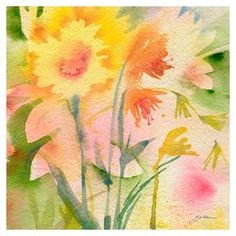 Bring gallery-worthy appeal to your walls with this beautiful canvas print, showcasing a watercolor-inspired motif.   Product: Canvas giclee printConstruction Material: Giclee and woodFeatures: Designed by Sheila Golden