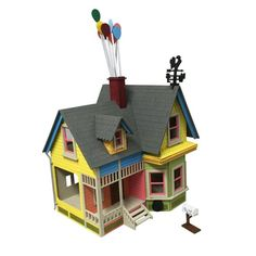 Disney UP House Dollhouse Kit by Birdswoodshack on Etsy Dollhouse Kits, Wooden Dollhouse, Dollhouse Miniatures, Disney Up House, Disney Home, Up Pixar, Disney Pixar, Pixar Movies, Models For Sale