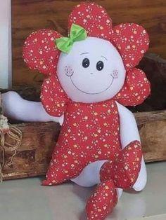 Discover thousands of images about Minha Maria Flor Produto Rosana Artes Venda Atacado e Varejo Doll Crafts, Diy Doll, Sewing Crafts, Sewing Projects, Diy And Crafts, Crafts For Kids, Sewing Dolls, Soft Dolls, Baby Sewing