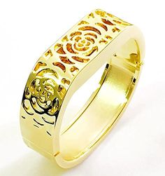 BSI Elegant New Gold Metal Replacement Jewelry Bracelet With Unique Flowers Design Gold Metal Housing For Fitbit Flex Smart Band -- Check this awesome product by going to the link at the image.