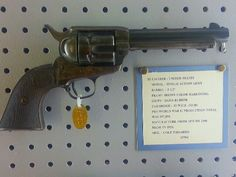 1921 Colt SAA with Case Hardened Frame in .32-20 @ JL Davis Arms Museum, Clairmore Oklahoma