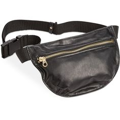ban.do Mini Swag Fanny Pack ($25) ❤ liked on Polyvore featuring bags, matte black, fanny bag, fanny pack bags, mini bag, belt fanny pack and waist pack bag