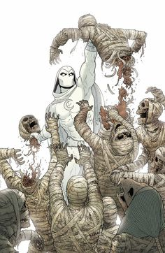 Great page by Jacen Burrows in Moon Knight Comic Book Characters, Comic Book Heroes, Marvel Heroes, Marvel Characters, Comic Character, Comic Books Art, Character Design, Marvel Movies, Marvel Dc