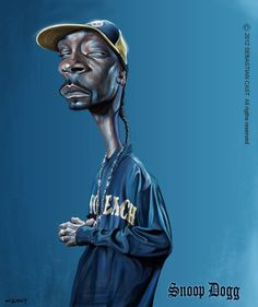 The Exhibition of Caricature by Sebastian Cast from Argentina :: Snoop_Dogg Cartoon Faces, Funny Faces, Cartoon Art, Arte Do Hip Hop, Hip Hop Art, Funny Caricatures, Celebrity Caricatures, Snoop Dogg, Realistic Cartoons
