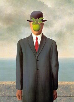 Handpainted Figure Wall Decorative Oil Painting on Canvas Le fils de l homme The Son of Man by Rene Magritte Surrealism Art Rene Magritte, Magritte Paintings, Modern Art, Contemporary Art, The Son Of Man, Art Moderne, Surreal Art, Art Plastique, Art History