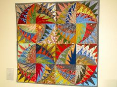 Paper piecing-a Karen K Stone pattern - get your sew on (Flickr)