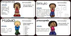 Emocionario Imágenes Educativas. Trabajamos las emociones Tarjetas de mini actividades.
