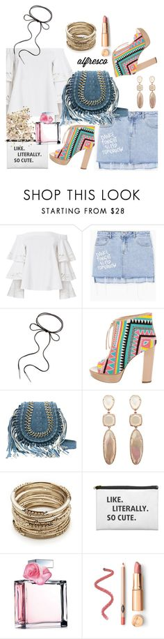 """""""Summer breeze"""" by lushxoxo ❤ liked on Polyvore featuring Exclusive for Intermix, MANGO, Kendra Scott, Jerome C. Rousseau, Sole Society, Ralph Lauren and Topshop"""