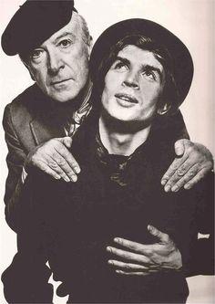 Cecil Beaton and Rudolph Nureyev by David Bailey, 1966.