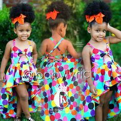 """Life is a Party, Dress like it."" 😍 wearing our custom handmade polka dot party dress! Baby African Clothes, African Dresses For Kids, African Children, Latest African Fashion Dresses, African Print Dresses, Cute Baby Clothes, Little Girl Dresses, Cute Kids Fashion, Baby Girl Fashion"