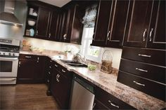 Contemporary Kitchen Photo by Kitchen Craft Cabinetry - Homeclick Community