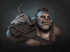 ArtStation - Orc Warrior , Anastasiya T