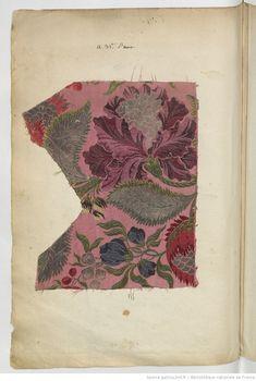 Etoffes de Lyon // 1736 : [échantillons de tissus] | Gallica Motifs Textiles, Vintage Textiles, Textile Patterns, Textile Art, E Design, Design Crafts, Pattern Design, Art Chinois, French Fabric